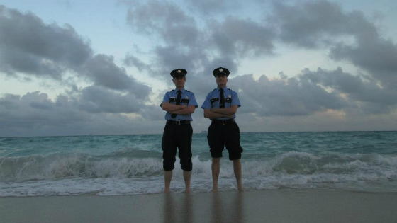 art cops on the beach