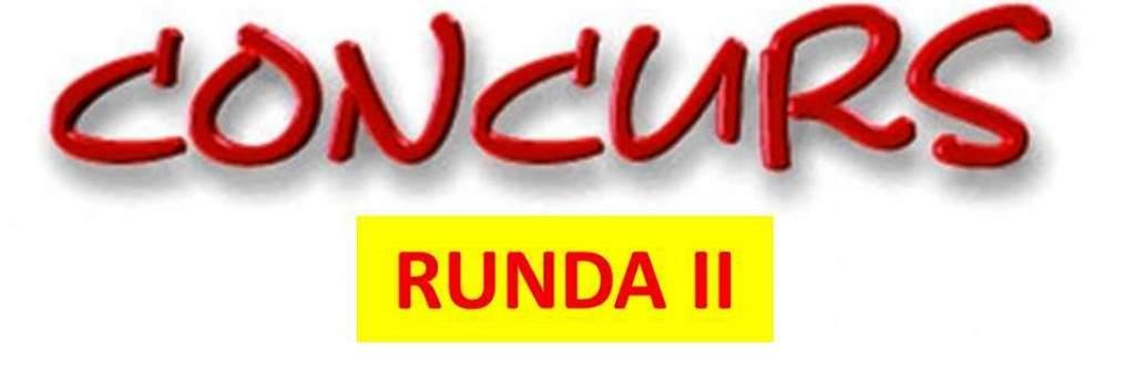 CONCURS RUNDA II