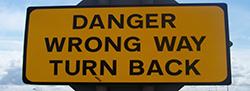 Wrong way sign1