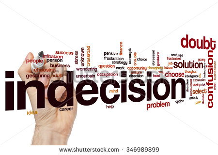 stock photo indecision word cloud 346989899