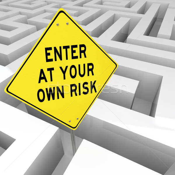 1669996 stock photo maze enter at your own risk danger of confusion puzzle
